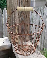Rusty Wire Egg Basket Primitive Farmhouse New