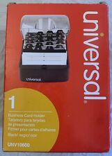 Push Button Business Card File Plastic Blacksmoke 4x5 34x2 34