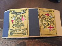 old match box top -  p & o -- b.i rolled out match box - larger than normal size