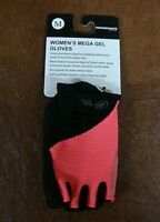 Performance Womens Mega Gel Cycling Gloves 115305 Sz Medium NWT Coral