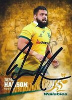 ✺Signed✺ 2016 WALLABIES Rugby Union Card JAMES HANSON