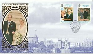 ASCENSION ISLAND 19 JUNE 1999 EDWARD & SOPHIE WEDDING BENHAM LE FIRST DAY COVER