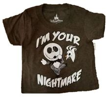 New Disney Parks Nightmare Before Christmas Jack and Zero Toddler T-shirt 2T
