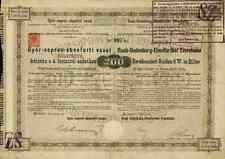Raab Oedenburg Ebenfurt Eisenbahn 1876 Györ Wien Budapest Trianon 200 Gulden TOP