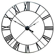 HUGE ! 110cm Extra Large Black Metal Wall Clock Roman Numerals CL01B