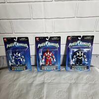 Power Rangers Heros Series 2 Mighty Morphin Red, Black & Blue Rangers