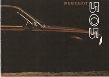 PEUGEOT 505 Saloon Brochure 1980 - GR, GRD, SR, SRD, TI, STI => POST FREE UK <=
