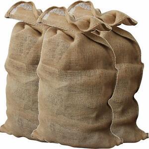 Jute Hessian Sacks Bags 25kg Potato Vegetable Logs Storage Wholesale 50x85cm