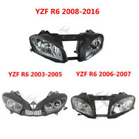 Front Headlight Headlamp Assembly For Yamaha YZF R6 YZFR6 03-05 06-07 08-16 New