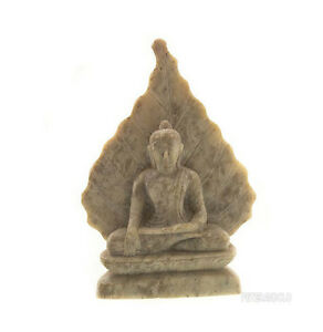 Statua Di Budda E Foglie Da Bodhi IN Pietra Budda India Peterandclo 5904
