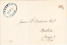 "U.S. Stampless Folded Wrapper: 1822 blue oval ""LEBANON, PENN."" ""18 1/2"""
