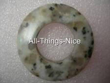 40mm Spotted LEOPARD QUARTZ Doughnut Circle Centrepiece Focal Pendant Bead Charm