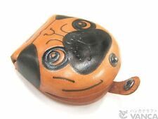Pug Handmade Genuine 3D Leather Animal Coin case/Purse VANCA Made in Japan 26276