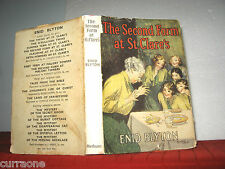 Enid Blyton THE SECOND FORM AT ST CLARE'S 1948 HCDJ illus by  W LINDSAY CABLE