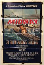 MIDWAY Original One Sheet Movie Poster - CHARLTON HESTON - 1976