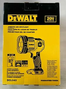 Dewalt DCL043 LED Hand Held 20 volt Spot light New in package 2 DAY SHIPPING