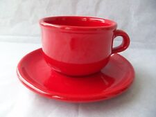 Waechtersbach Red Coffee Cup And Saucer!  PLAIN RED!  NO DECORATIONS!