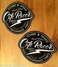 Cafe Racer Oldschool Aufkleber Letter Vintage Sticker Bobber British Racing V2