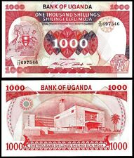 Uganda 1000 SHILLINGS 1986 P 26 UNC