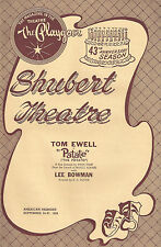 """Tom Ewell """"PATATE"""" Lee Bowman / Nancy Wickwire 1957 FLOP Tryout Playbill"""