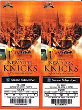NEW YORK KNICKS VS. UTAH JAZZ GAME TICKETS FROM OCTOBER 25, 2004