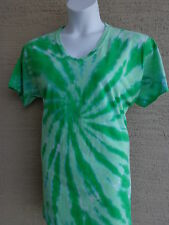 Women's Port and Company  Cotton S/S V Neck Tie Dyed Tee Shirt 3X Green