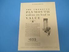 1930 The Improved Plymouth Widens its Lead in Value, Full Size $655 and up PA003