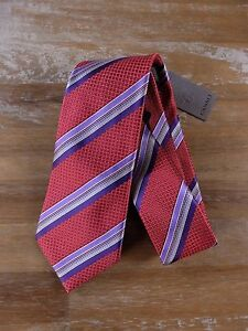 CANALI red striped silk tie authentic - NWT