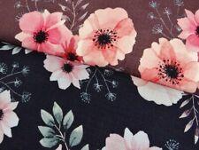 0,50 m Musselin glatt bedruckt 100 % Baumwolle Blume doppellagig Stoffe P 928005