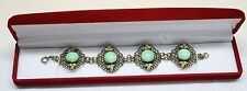 Antique Victorian Edwardian bracelet Peking Glass And Seed Pearls