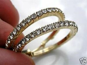 STUNNING 9CT GOLD GF HOOP EARRINGS THESE ARE STUNNING FROM 9CT GOLD BLING 86