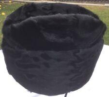 ebf2f1eca5b CROWN CAPS RUSSIAN BLACK PERSIAN ASTRAKHAN ENVOY MEDIUM 56cm 7 WINTER LAMB  SKIN