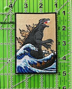 The Great Monster off Kanagawa Iron on/Sew on Patch, Godzilla Patch