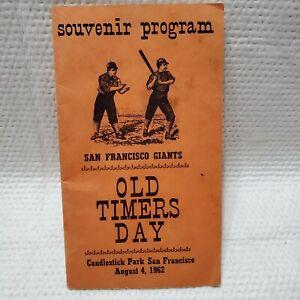 San Francisco Giants 1962 Old Timers Day Program Joe Dimaggio MLB Candlestick