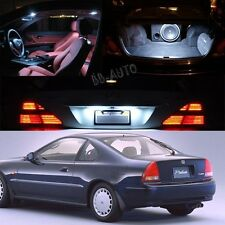 Xenon White LED Light Bulb Interior Package Kit For Honda Prelude 1992 - 1996