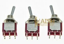 3x DPDT 6 Pin 2 Way ON ON Guitar Mini Toggle Switch SALECOM Car/Boat Switches
