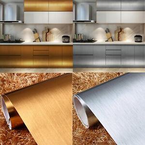 Metallic Self Adhesive Wallpaper Wall Stickers Kitchen Furniture Cabinet Wrap