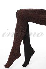 New Trasparenze Adventure Leopard / Black Print Pantyhose Brown Tights Size M
