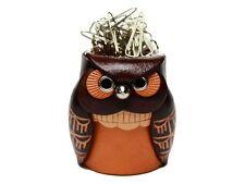 Owl Handmade Leather Desk Clip Holder *VANCA* Made in Japan #26185