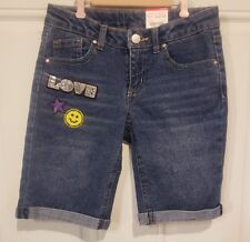 NWT Girls Total Girl Bermuda Jean Shorts Size 10 with Adjustable Waists