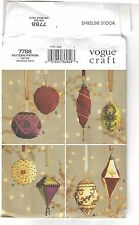 New Sewing Pattern Vogue Craft 7788 Beaded Ornaments