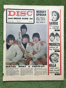 DISC AND MUSIC ECHO pop magazine June 11th 1966 BEATLES BUTCHER cover