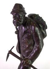 Bronze um 1900 - Johan Eduard DANNHAUSER  (1869 -? ) Wandersmann