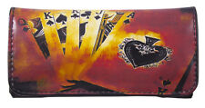 Tobacco Case Pouch Synthetic Leather Wallet Bag Rolling Smoke Flush Royal Cards