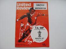 MANCHESTER UNITED V SOUTHAMPTON  08/03/1977   Season 1976-77