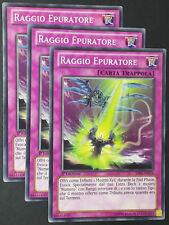 Set 3X RAGGIO EPURATORE  LVAL-IT072 Trappola Comune in Italiano YUGIOH