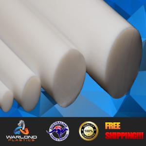 TEFLON - PTFE VIRGIN ROD - SELECT YOUR DIAMETER & LENGTH - FREE SHIPPING!