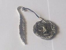 the Green man code dr84  Made From English Pewter On A FEATHER Bookmark