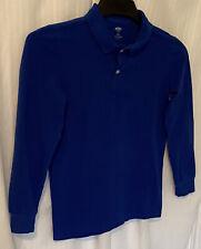 Boy's,Old Navy, Shirt Deep Blue Long Sleeves Collar Size L (10-12)
