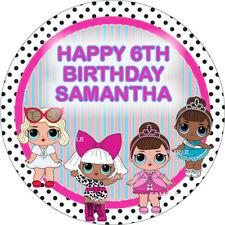 LOL surprise Bon Bon Large Cake Topper Edible Icing Birthday Personalised